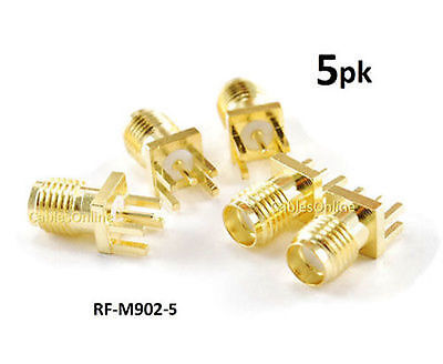 $6.95 • Buy 5-PACK SMA Female PCB Clip Edge Mount 1.6mm Connector RF Adapter - RF-M902-5