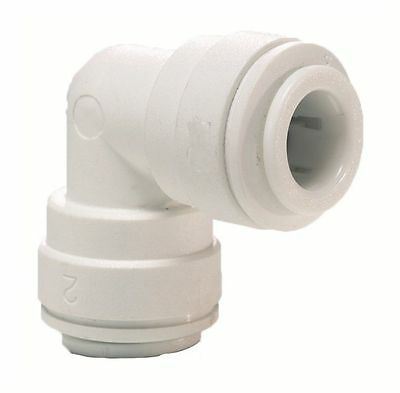 Elbow Connector 1/4  For Water Pipe Tubing Filter Systems Coolers Fridge Freezer • 2.49£