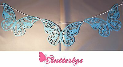 5 Metres Lazer Cut Butterfly Bunting, Various Colours, Wedding Party Decoration • 7.50£