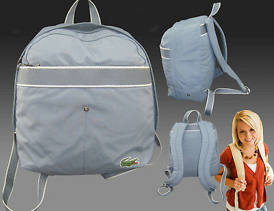 New Vintage LACOSTE BACKPACK Rucksack Bag New City Casual 10 Smoke Blue • 69.99£