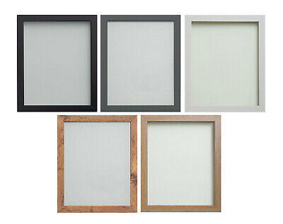 £8.46 • Buy Black White Beech Grey Rustic Picture Photo Poster Frames *Glass Or Perspex