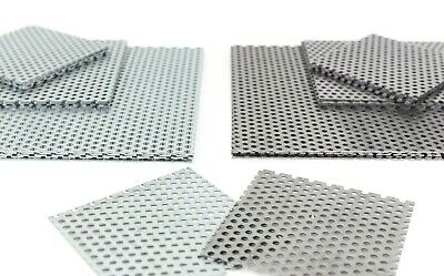 £8.71 • Buy 3mm Hole Ø PERFORATED SHEET Mild Or Galvanised Steel Guillotime Cut 9 Pop Sizes