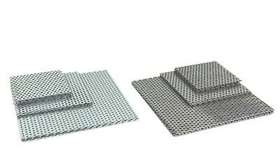 £3.63 • Buy PERFORATED SHEET 3mm Hole Mild & Galvanised Steel Guillotime Cut 9 Popular Sizes
