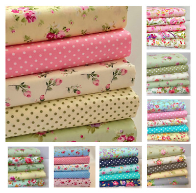 £7.20 • Buy FAT QUARTER BUNDLE 100% Cotton Sewing Fabric, Rose & Hubble Ideal Face Coverings