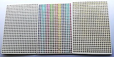 Bumper Pack Of  1600 Adhesive Sticky Dainty 3 Mm Gem Stickers 4 Crafts • 5.99£