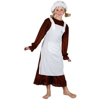 £14.98 • Buy Child VICTORIAN GIRL BROWN Fancy Dress Costume Girls Outfit Book Week Age 3-10