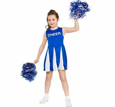 £8.95 • Buy Child HIGH SCHOOL CHEERLEADER BLUE Musical Fancy Dress Outfit Costume Age 3-13