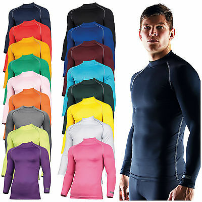 Mens Long Sleeve Base Layer Top Compression Armour Top Thermal Gym Sports Shirt • 22.25£
