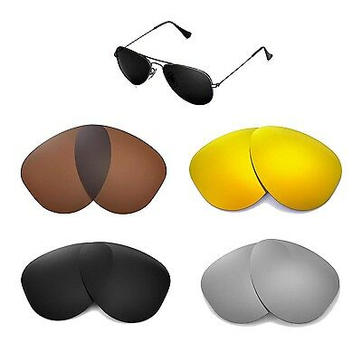 7d6648843fb Walleva Replacemen t Lenses For Ray-Ban Aviator RB3044 52mm - Multi Options  •