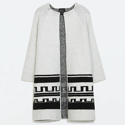acea1b9e ZARA Women Ethnic Jacquard Short Coat S M Small Medium • 110.00$