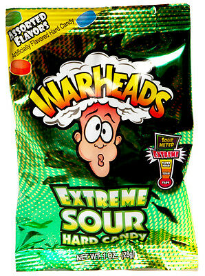 £2.75 • Buy Warheads Extreme Sour Hard Candy - 28g Bag - Warheads - American Candy - Sour