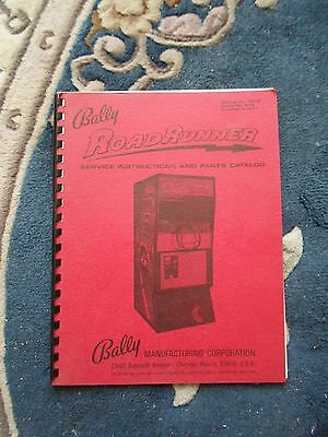 Road Runner Service  Instruction And Parts Manual 1971 Original&Schematic Bally • 28.67£