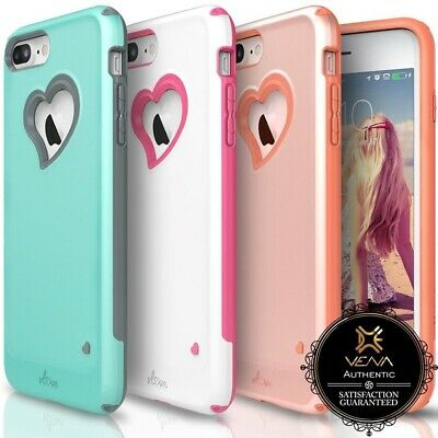 AU13.35 • Buy For IPhone 8 7 Plus Vena【vLove】Case Cover Girl Heart-Shape Hybrid Dual Layer