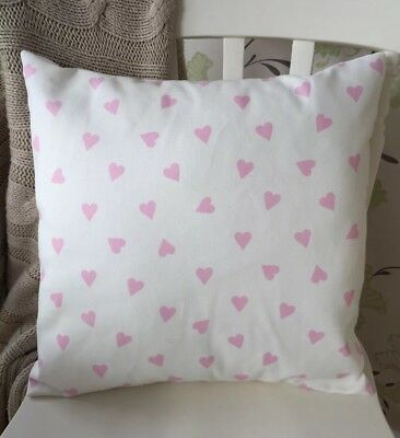 £6 • Buy Clarke And Clarke Shabby Chic Vintage White & Pink Hearts 16  Cushion Cover