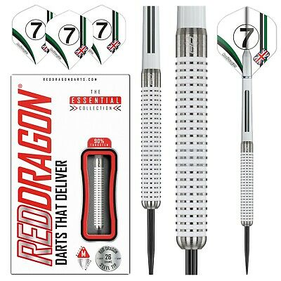 Tungsten White Darts Set 20g,22g,24g,26g,28g,30g,32grams Red Dragon™ Falcon GT • 27.95£