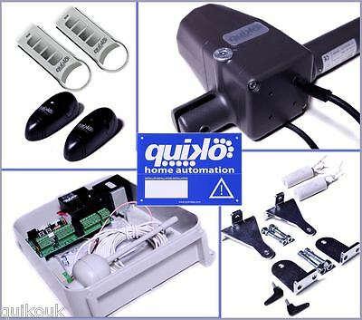 £389 • Buy Quiko Neo Automatic Remote Electric Gate Opener Kit Dual Rams - 2 Remotes.!