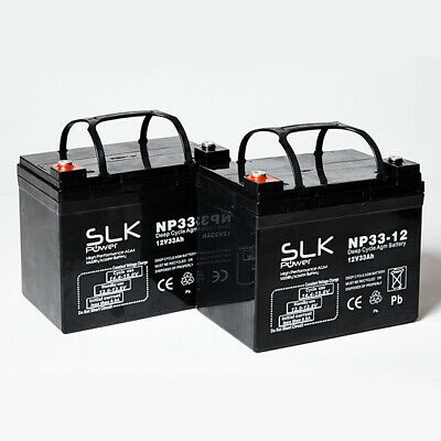 £47.62 • Buy PAIR (12v)  * 12 17 24 33 36 40 50 55 75AH MOBILITY SCOOTER WHEELCHAIR BATTERIES