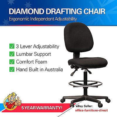AU276 • Buy Drafting Chair Ergonomic Teller Office Counter Chairs Gas Lift With Foot Ring