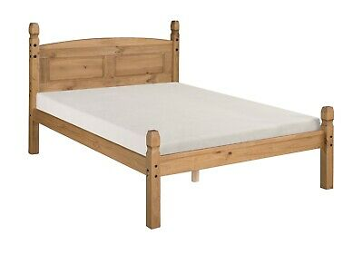 £124.99 • Buy Corona Bed Frame 4ft6 Double Low End Bedroom Solid Pine By Mercers Furniture®