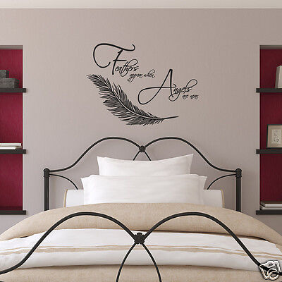 £18.99 • Buy Feathers Appear When Angels Are Near Wall Sticker