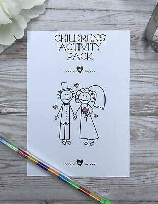 £1.49 • Buy Childrens A6 White Wedding Activity Pack Book Bag Party Gift Favour Invitation