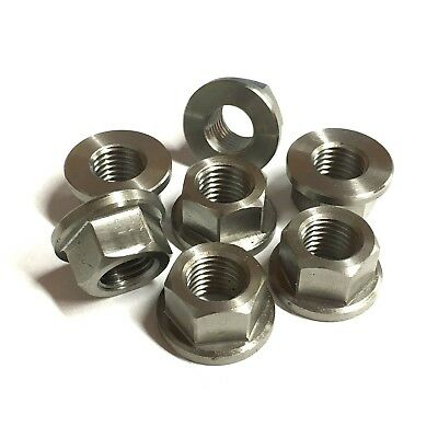 £6.24 • Buy Stainless Flange Nuts - Metric FINE PITCH M10 X 1.25mm - Sprocket Machined Nut