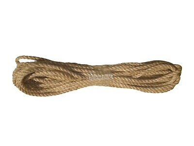 Natural 100% Jute Rope Twine Cord Strand Twisted Braided Decking Boating Sash • 0.99£