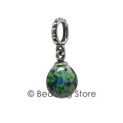 AU69 • Buy NEW Pandora Speckled Beauty Egg Blue Green Silver  Murano Charm Pendant 791601