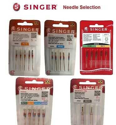 Singer Sewing Machine Needles Domestic - Standard, Ballpoint, Overlock, Quilting • 3.50£