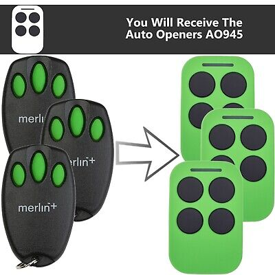 AU104.85 • Buy Chamberlain Merlin C945 Garage Door Remote Control Suits MR1000 X3