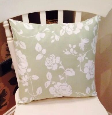 £6.50 • Buy Clarke And Clarke Shabby Chic Sage Green Meadow 16  Cushion Cover