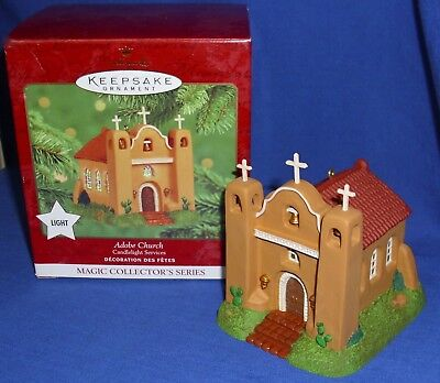 $13.99 • Buy Hallmark Lighted Ornament Candlelight Services #3 2000 Adobe Church Southwest