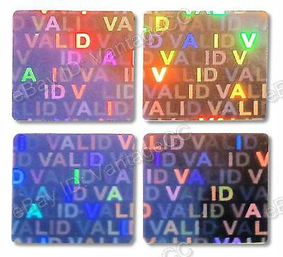 £13.99 • Buy  VALID  Hologram Stickers Labels, UNNUMBERED 15mm Square Warranty, Silver, VOID