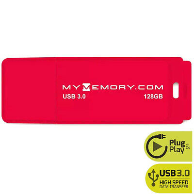 View Details MyMemory 128GB USB 3.0 Flash Drive Memory Stick Pen Thumb - Red • 10.99£