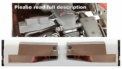 $79 • Buy Fits Corvette C6 2005-2007 & 2006-2013 Z06 2Pc RADIATOR SHROUD COVER Stainless