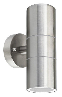 £11.99 • Buy Stainless Steel Up Down Wall Light GU10 IP65 Double Outdoor Wall Light  ZLC03