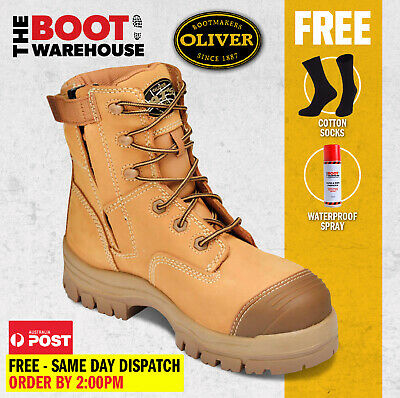 AU162.90 • Buy Oliver Work Boots, 45632z, Zip, Lace-Up, Non-Metal, Composite Toe Cap Safety NEW