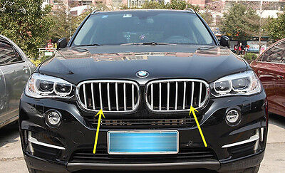 $ CDN87.26 • Buy Chrome  Stainless Steel Front Grille Trim For BMW X5 F15 2014 2015 2016 2017