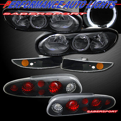 $205 • Buy Combo Black Halo Headlights W/ Bumper Lights + Taillights For For 98-02 Camaro