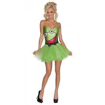 £21.17 • Buy Kermit The Frog Costume Adult The Muppets Halloween Fancy Dress