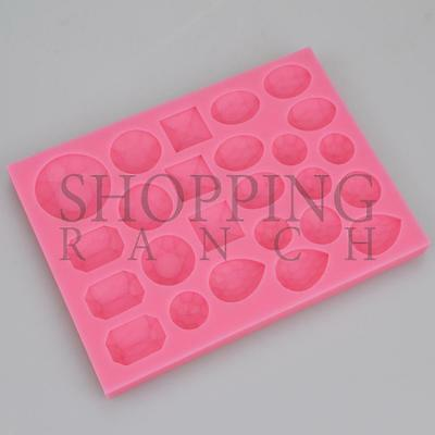Diamond Jewels And Gems Silicone Mould Cake Cupcake Toppers • 5.60£