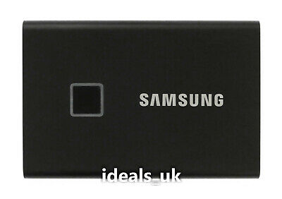 AU368.88 • Buy Samsung T7 Touch 2TB SSD USB 3.2 Gen2 (MU-PC2T0K) Portable Solid State Drive