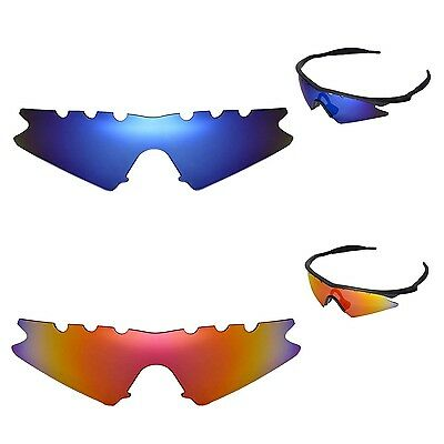 951c8351a1 WL Polarized Fire Red+Ice Blue Vented Replacement Lenses 4 Oakley M Frame  Sweep •