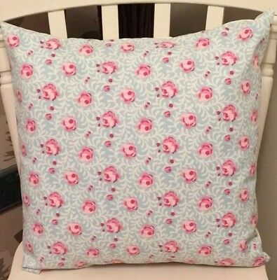 £6.50 • Buy Clarke And Clarke Noella Aqua Blue Pink Floral Shabby Chic 16  Cushion Cover