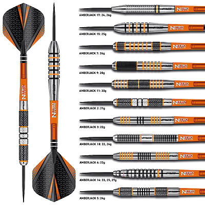 Tungsten Darts Set 21gram,22g,23g,24g,25g,26g,27g,28g,30g Red Dragon Amberjacks  • 24.90£