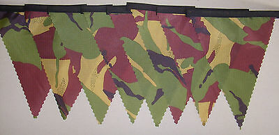 £5.95 • Buy Ripstop Army Camouflage Bunting 4 Mt Or More Garden Party Child Gift Decoration