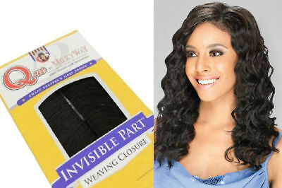$17.74 • Buy Que Invisible Part Loose Deep Closure 10  12  By Milkyway Human Hair Blend