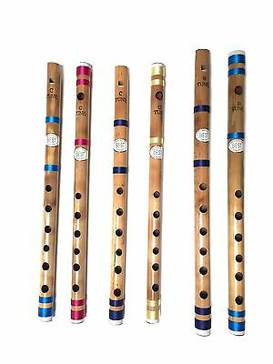 Beginners To Professional Indian Bamboo Flute Bansuri Fipple & Transverse Flute • 7.99£