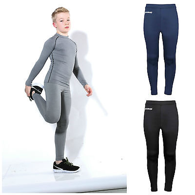 Childrens Boys Girls Base Layer Trousers Sports Tights Cycling Performance Kids • 19.45£