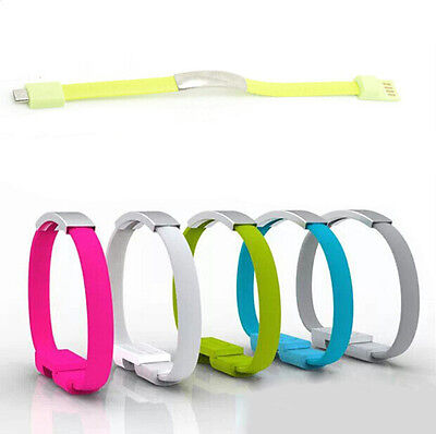 $1.09 • Buy Silicone Wrist Bracelet Data Sync Charge Micro USB Cable Fr Android Smart Phones